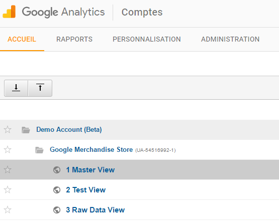 2016-08-04-Google Analytics-Demo-Account-structure