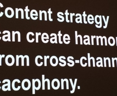 Slide by Margot Bloomstein, Building a brand-driven message architecture.